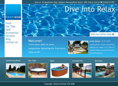 Deepend pools website coming soon