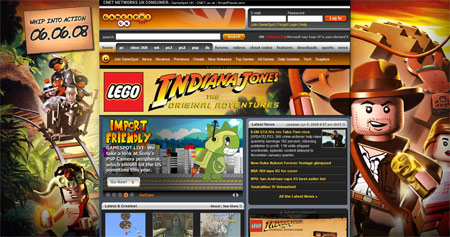 Gamespot.com Lego Indiana Jones Background