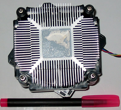 DELL Heat sink from above