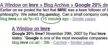 How fast can Google index your web page?