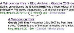 indexed by google