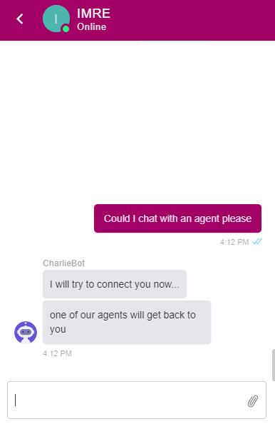 bot to agent handover